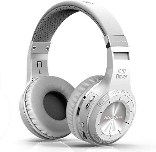 Bluedio Wireless Bluetooth V5.0 Stereo Headphones with Mic (HT Turbine White )