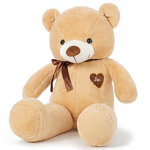 YunNasi Osito de Peluche Gigante Animal de Felpa Grande 100cm/39 Inches Teddy Juguetes de Peluche con Cinta