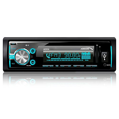 Audiocore AC9720 APT-X - Reproductor de medios digitales para coche Bluetooth MP3/WMA/SD/USB Radio RDS Panel desmontable