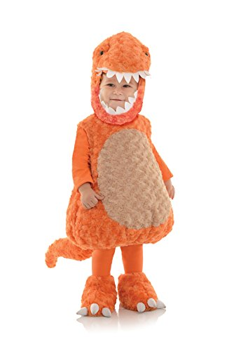 Underwraps Toddler's T-Rex Belly Babies Costume, Orange, Large (2-4T)