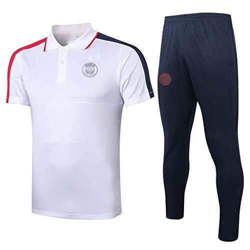 H.ZHOU Camiseta de fútbol Uniforme de fútbol de Entrenamiento de Manga Corta Europea Club de fútbol Masculino, fútbol Jersey, Aficionados de formación Deportiva de KK-036 Traje Deportivo (Size : XL)