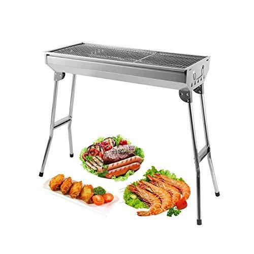 AGM Barbecue Carbone Portatile , Griglia a Carbone Pieghevole Portatile per Picnic, Viaggi, Patio o...