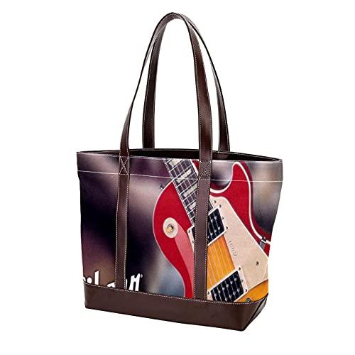 NaiiaN Handtaschen Light Weight Strap Umhängetaschen Geldbörse Shopping Gitarre für Mutter Frauen Mädchen Damen Student Einkaufstasche