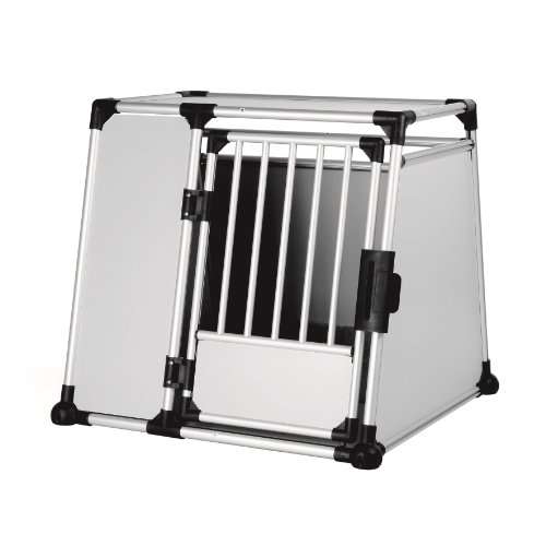 Trixie 39346 Transportbox, Aluminium, XL: 94 × 87 × 93 cm, silber/hellgrau