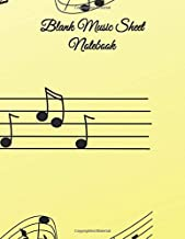 "Blank Music Sheet Notebook: Music Manuscript Paper / Staff Paper / Musician Notebook (Music Composition Book) 12 Staves, 8.5"" x 11"", 100 pages - Note"