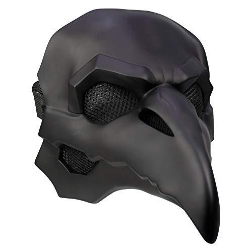ZYER Máscara de Médico de la Peste, Disfraz de Accesorios de Halloween, Máscara de Pico de Nariz larga de Broma, Cosplay Gótico de Steampunk, Máscara de Pájaro de Cuero Retro