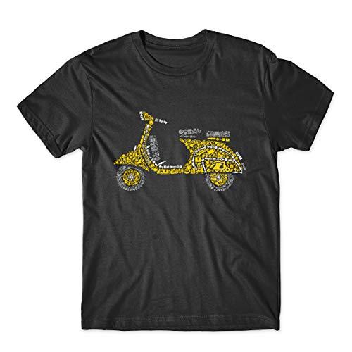 DT Scooter Elements Motor Composition Rider Life Camiseta Negro Negro (3XL (Pecho 132 cm)