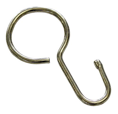 GARDINIA Seilhaken für Seilspanngarnituren, 20 Stück, Metall, Nickel