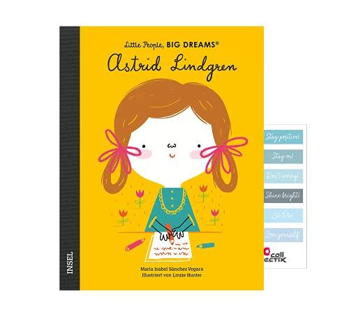 Little People, Big Dreams: Astrid Lindgren (tysk utgåva) journalklistermärken (biografier för barn)