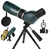 MaxUSee 20-60x60 Zoom HD Spotting Scope with Tripod, Carrying Bag and Phone Adapter, BAK4 Prism Full Multi-Coated Lens for Target Shooting Hunting Bird Watching Wildlife Scenery Moon Viewing