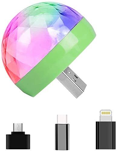Youool USB Mini Disco Licht, 4-LED Party Auto Atmosphärenlichter LED Kleine Disco Kugel USB Powered Bühnenlicht RGB Bühnendekoration Projektor Drehspiegel Disco Kugel