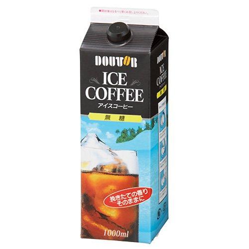 ドトールコーヒー アイスコーヒー 無糖 1L×6本
