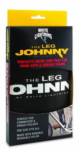 White Lightning Leg Johnny Biker's Leg Protector, One size