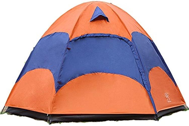 ShopSquare64 en Plein air 3-5 Personnes Grande Tente de Camping Double Couche Anti-UV Anti-UV Pare-Soleil
