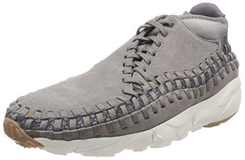 Nike Air Footscape Woven Chukka Prm, Scarpe da Ginnastica Uomo, Grigio (Flat Pewter/Gun Smoke/Atmoshphere Grey/Light Pumice 003), 47.5 EU