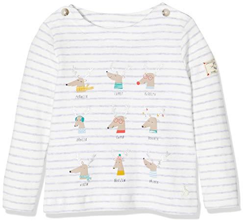 Joules Blitzen T-Shirt, Grigio (Grey Reindeer Stripe GRYRINDSTP), 12 Mesi Bimbo