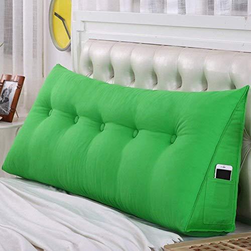 Hoofddeel nachtkussen kussensloop driehoekig bed wig rugleuning taillekussen slaapkamer wasbaar (kleur: bruin, grootte: 50x50x20cm) 70x50x20cm groen