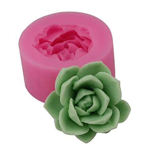 AIHOME Molde de silicona 3D para hornear, rosa/silicona, molde de rosas, para fondant, regalo, decoración de chocolate, galletas, jabón, resina, moldes para hornear