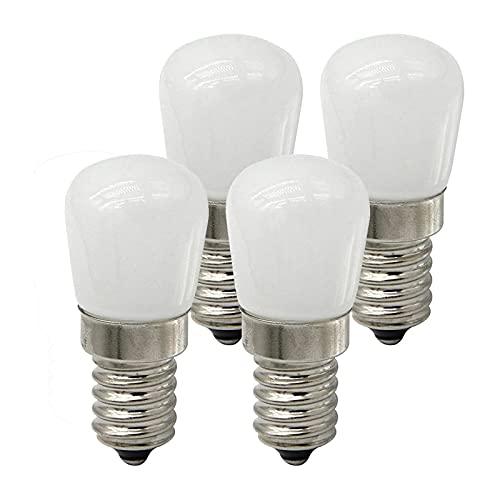 LPsweet E14 Bombilla pequeña Edison Tornillo lámpara de Nevera 2W Blanco cálido AC220V Bombillas LED de Ahorro de energía a Prueba de Agua para Nevera microondas