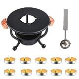 Aiboria Kit de sello de cera, calentador de cera, herramienta para derretir sellos de cera o sellar perlas de cera para sellos de cera (con 1 cuchara + 10 velas)