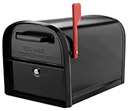 professional Architectural Mailbox 6300B-10 Oasis 360 Parcel Mailbox, Oversized, Black
