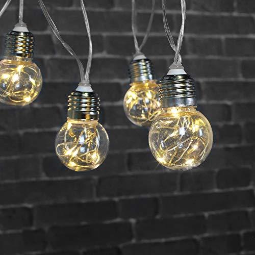 SKYLANTERN Guirlande LED a Pile 10 Ampoules Micro-LED 5M