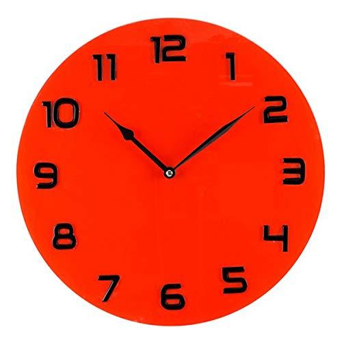 Les Trésors De Lily [Q6479 - Horloge Murale Verre 'Design' Rouge Noir - 35 cm