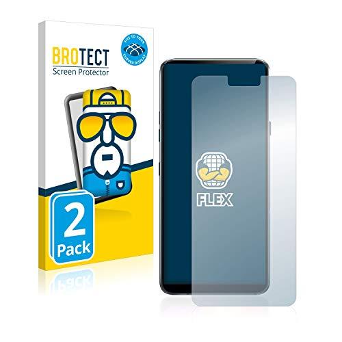 BROTECT Full-Cover Schutzfolie kompatibel mit LG G7 ThinQ/Plus/LG G7 Fit/One (2 Stück) - Full-Screen Bildschirmschutz-Folie, 3D, Kristall-Klar