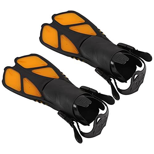 Gaeirt Aletas de Buceo, Aletas de natación Naranjas Aletas de Snorkel Aletas de Entrenamiento de natación TPR + PP para Actividades en la Piscina de Buceo Hombres Mujeres(Metro)