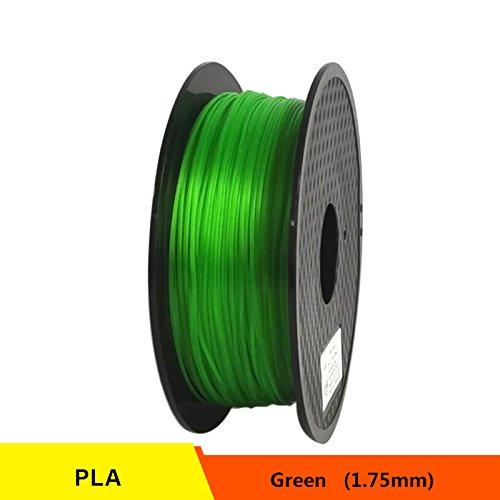 RONGT PETG T transparant glas 3D-printer Filament Zuur-Alcaline Bestand 1,75 mm 1 kg spoel Kunststof Materiaal Uitstekende Dikte (Groen)
