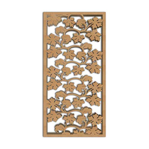 Best Bargain NISH! Decorative Carved MDF Wood Wall Panels for Room Partition, Screen, Divider, Door,...