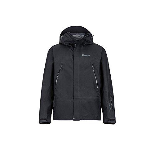 Marmot Spire Jacket Giacca Da Neve Rigida, Abbigliamento Per Sci E Snowboard, Antivento, Impermeabile, Traspirante, Uomo, Black, XL
