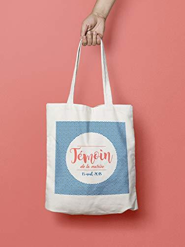 Bolso de mano personalizable, diseño de testigo de boda, color chevron, un regalo original y personalizable.