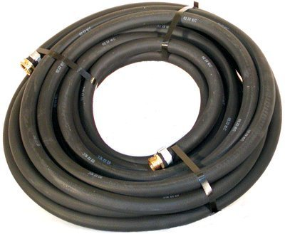 "Water Hose Continental ContiTech ¾"" x 100' BLACK RUBBER - Industrial Grade - US Made"
