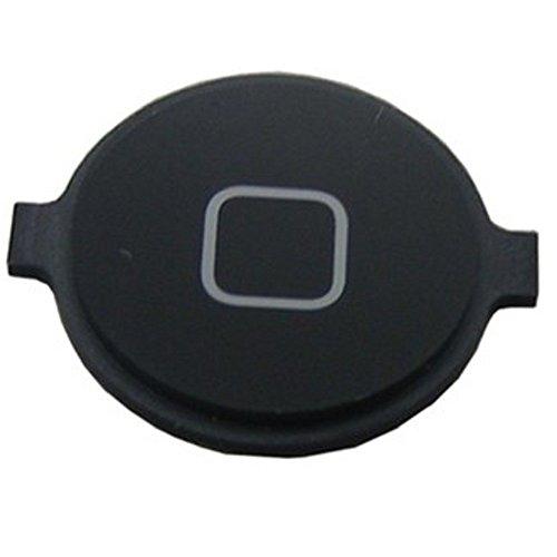 REY Botón Home para iPhone 4 y 4S, Repuesto en Color Negro