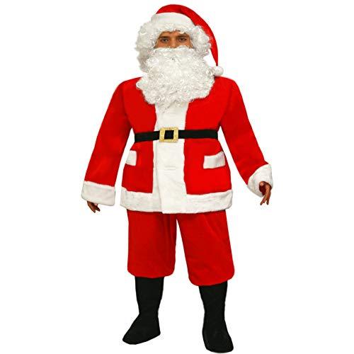 Costume Babbo Natale Professionale adulto Taglie Forti (XXXL)