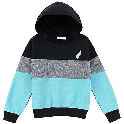 Sweatshirt Boys Hoodies Pullover Fleece Toddler Girls Kids Tops Hoodie Hoody Casual Hooded Youth Teens (8 5-6T) Blue