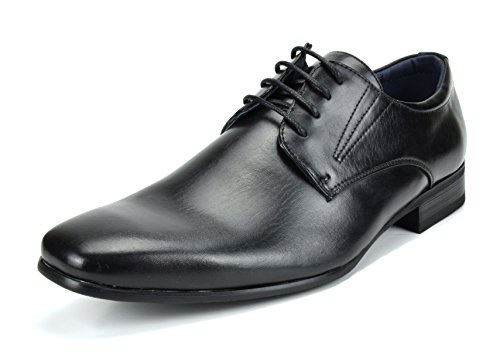 Bruno Marc Men's Gordon-03 Black Classic Modern Formal Oxfords Lace Up Leather Lined Snipe Toe Dress Shoes - 9.5 M US