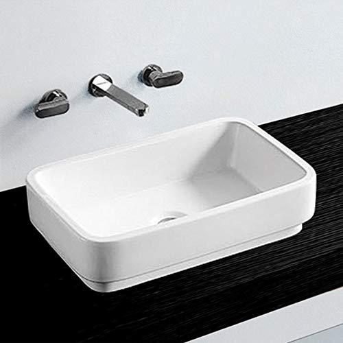 NEG Waschbecken Uno72A (abgerundet) Aufsatz-Waschschale/Waschtisch (weiß) mit flachem Rand und Nano-Beschichtung