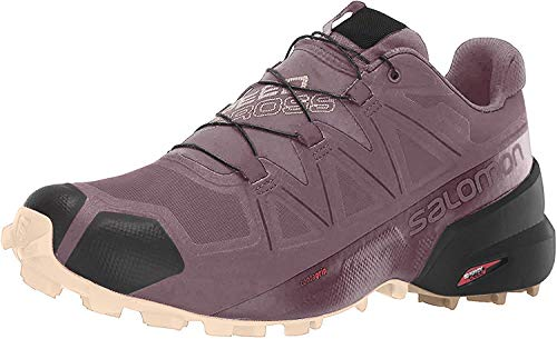 SALOMON Women's Speedcross 5 GTX Hiking Shoe, Flint/Black/Bellini, 7 B (M)