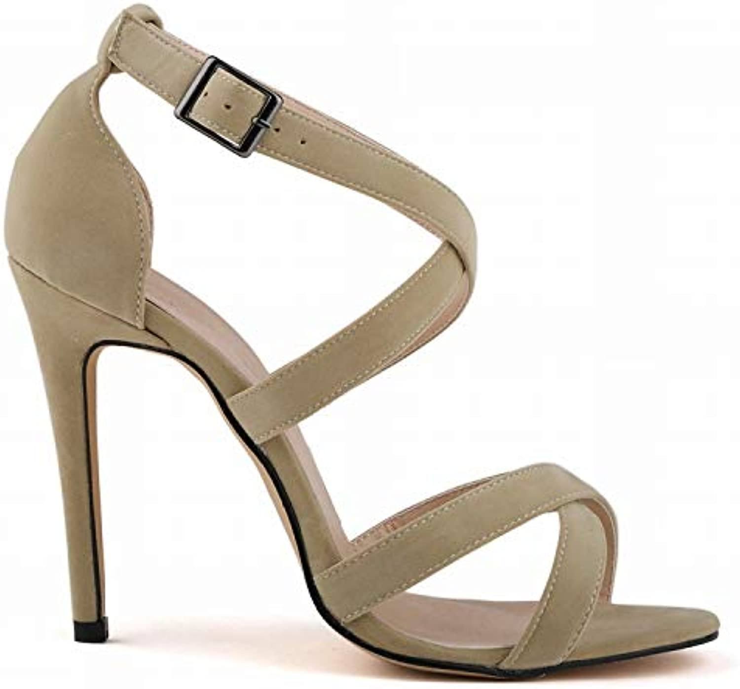Women 11CM Stiletto Sandals Cross Strappy High Heels Open Toe Party Casual Dress shoes
