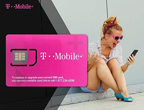 Simtrip T-Mobile Prepaid USA SIM-Karte – unbegrenzte 4G-Daten, Anrufe und SMS, 8 Tage Unlimited 21 Days