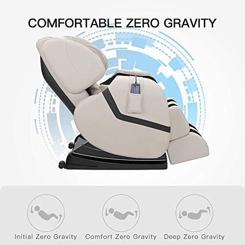 Nager Electric Massage Chair Massage Sofa Zero Gravity Recliner Full Body Shiatsu Massage with Heat, Khaki