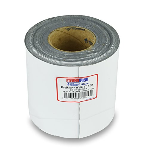 EternaBond RV Mobile Home Roof Seal Sealant Tape & Leak Repair Tape 6' x 50' Roll White Authentic (6''-50ft)