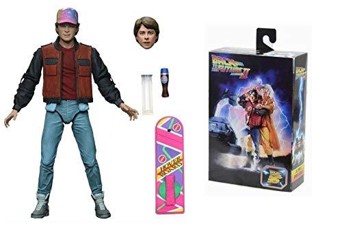 Necaonline Figurine Marty McFly du Film Retour vers Le Futur 2 Au 1/10 Soit 18 cm Edition Limitée