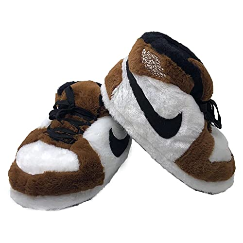 iPantuflas   Zapatillas Casa AJ 1 Unisex Hombre Mujer   Talla única 35-43   Pantuflas Originales para Regalar   Zapatillas de Invierno Divertidas Calentitas para el hogar (Marrón)