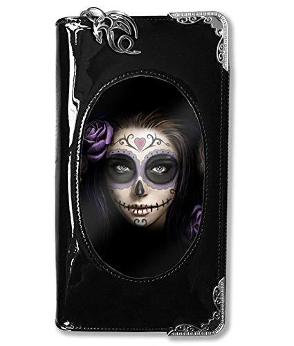 Anne Stokes Cartera Gótica Day Of The Dead Con Catrina - Negro