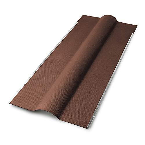 Firsthauben für Bitumenwellplatten - braun mit Metallkante 1050 mm