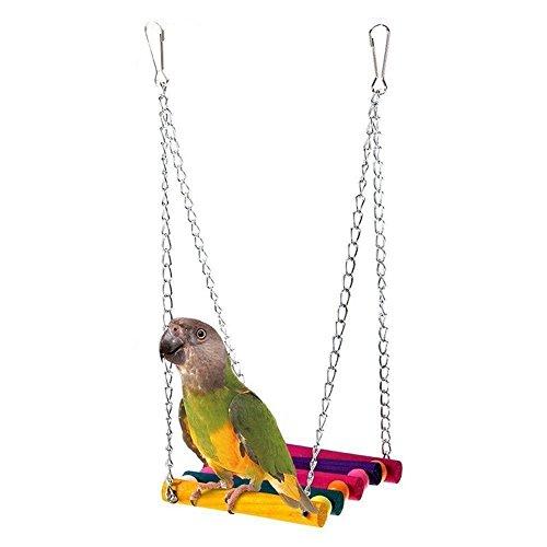 Nalmatoionme, altalena per gabbietta per uccelli e pappagalli