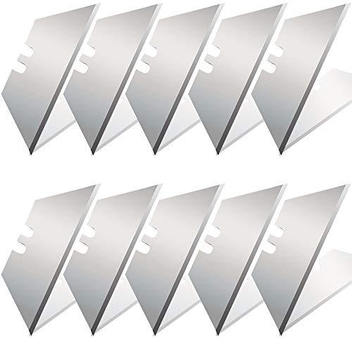 Vabogu Heavy Duty Utility Knife Blades SK5 Steel Standard Size Utility Knife Replacement Blades with Storage Box10Pcs